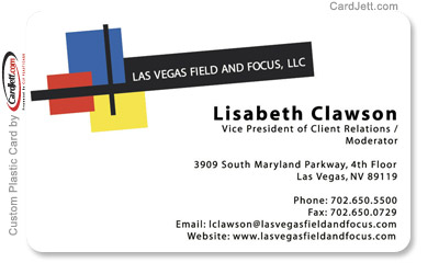 Plastic business cards showcase gallery las vegas field and focus llc plastic business card reheart Images